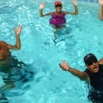 Pool Aerobics are one of the ways that Indio RV Parks residents stay fit