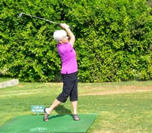 Our palm springs RV park residents enjoy the pitch and putt course daily