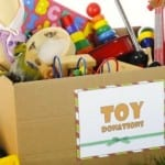Toys purchased by residents for donation