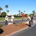 We love seeing the community come together to help beautify the Indio RV Park landscape